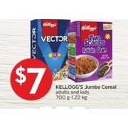 Kelloggs Jumbo Cereal Adults And Kids - $7.00