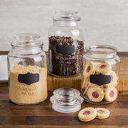 Kitchen Stuff Plus Red Hot Deals: KSP Quality Chalkboard Glass Canister $10, Harman 10-Pc. Cotton Tea Towels $10 + More